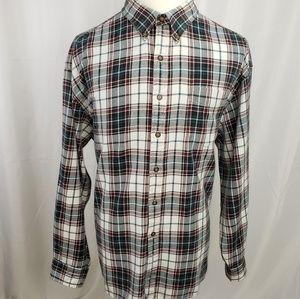 GAP Men's Flannel Shirt XXL Blue Plaid C1